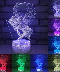 Unicorn Night Light 3d