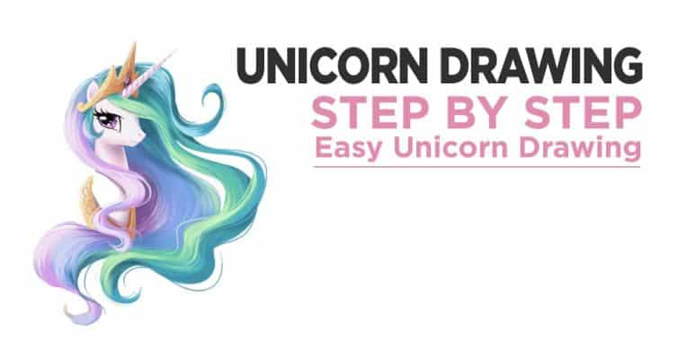 Unicorn Drawing : Step By Step Easy Unicorn Drawing
