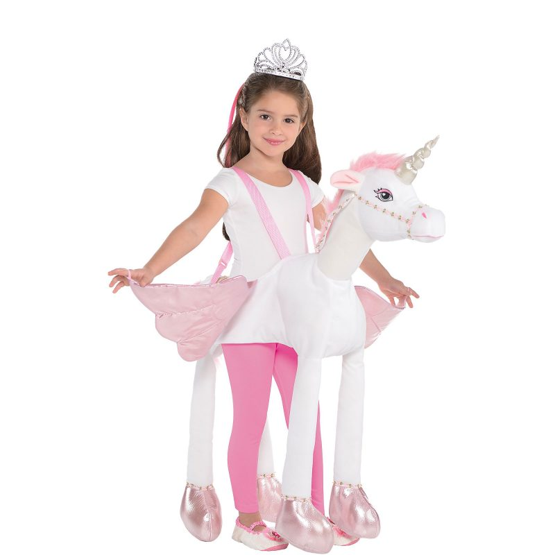girl ridding unicorn