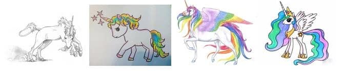 Unicorn Drawing Exemples