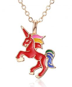 Unicorn Red Pastel Necklace Party Favor