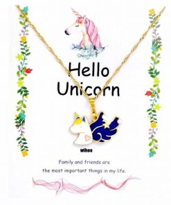 Unicorn Pastel Necklace Little Girl