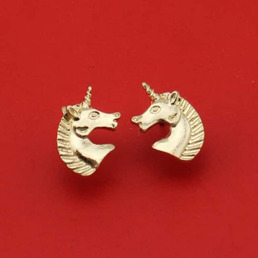 Unicorn Earrings 14k