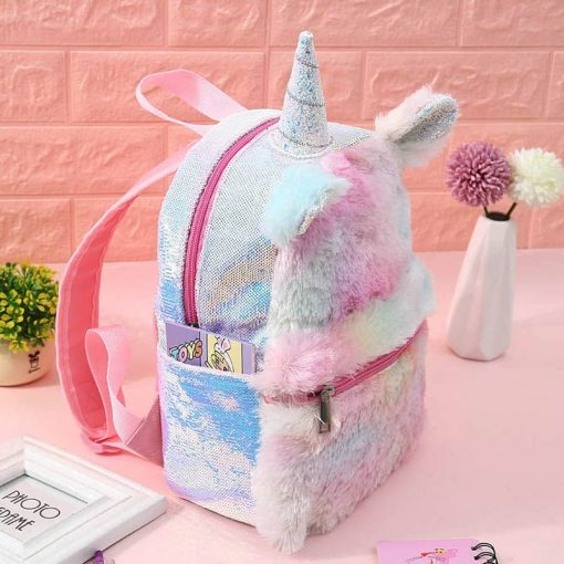 Unicorn Backpack With Water Bottle Holder