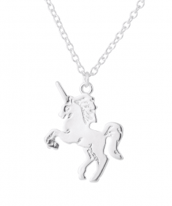 Unicorn Silver Necklace For Sales