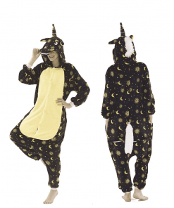 Unicorn Pajamas Black