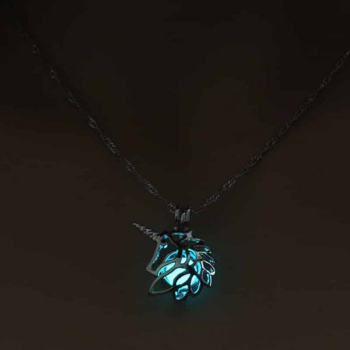 Unicorn Necklace Glow In The Dark