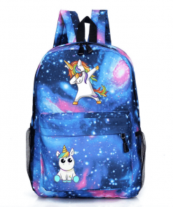 Unicorn Backpack Dabbing