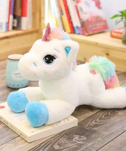Giant Stuffed Unicorn Blue