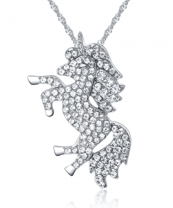 Unicorn Crystal Necklace For Women