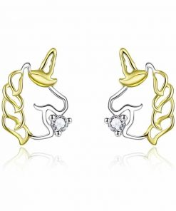 Unicorn Earrings 9ct Gold