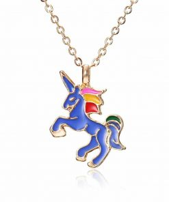 Unicorn Blue Pastel Necklace The Amazon Rainforest