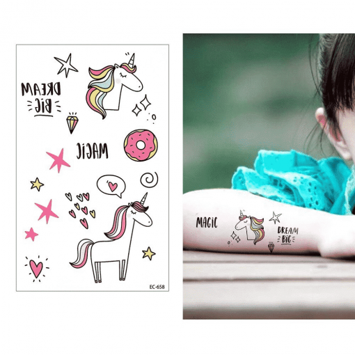 Unicorn Tattoo For Toddlers
