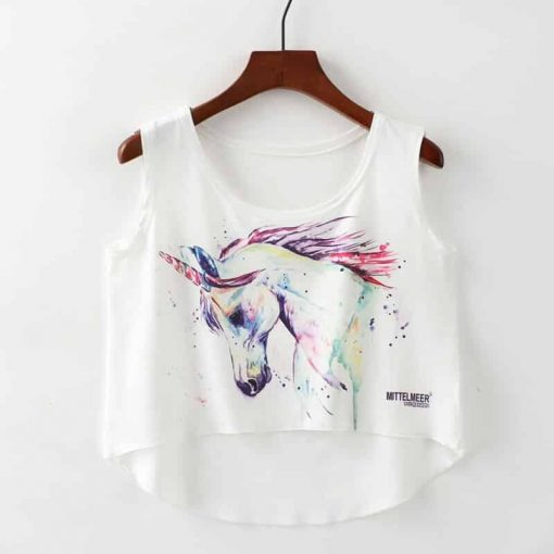 Unicorn Crop Top Cheap