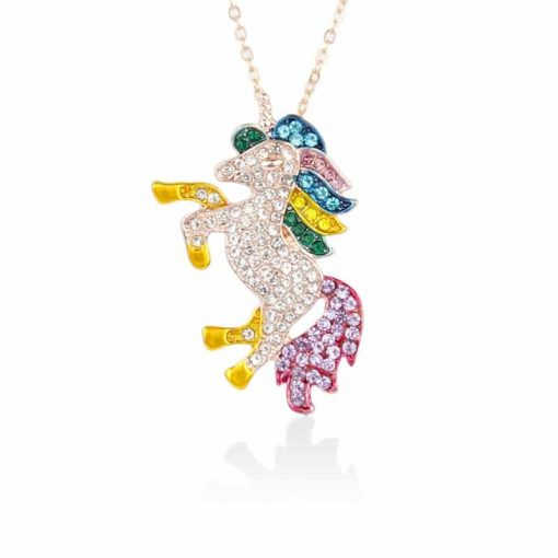Unicorn Crystal Rainbow Necklace Cheap