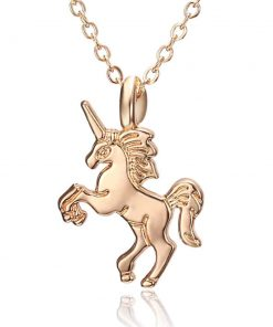 Unicorn Necklace 14k Gold
