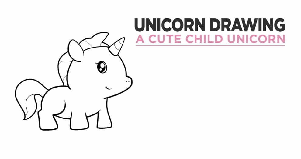 Children's Unicorn Drawing : Simple, Step-by-step Drawing For Small Children
