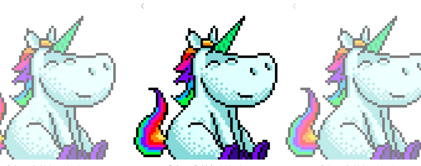 Pixel Art Unicorn Sitting