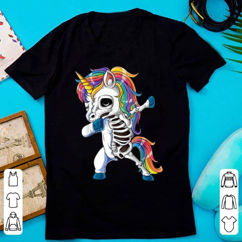 Skeleton Dabbing Unicorn Shirt