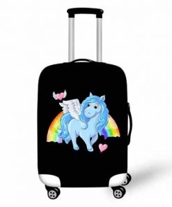 Unicorn Suitcase Black