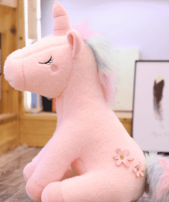Giant Stuffed Unicorn Pink Fluffy