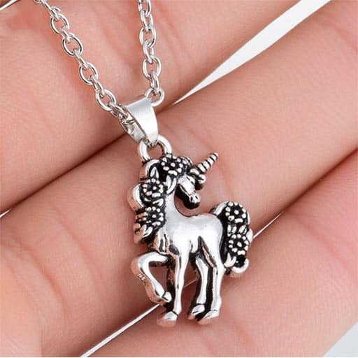 Unicorn Sterling Necklace With Chain