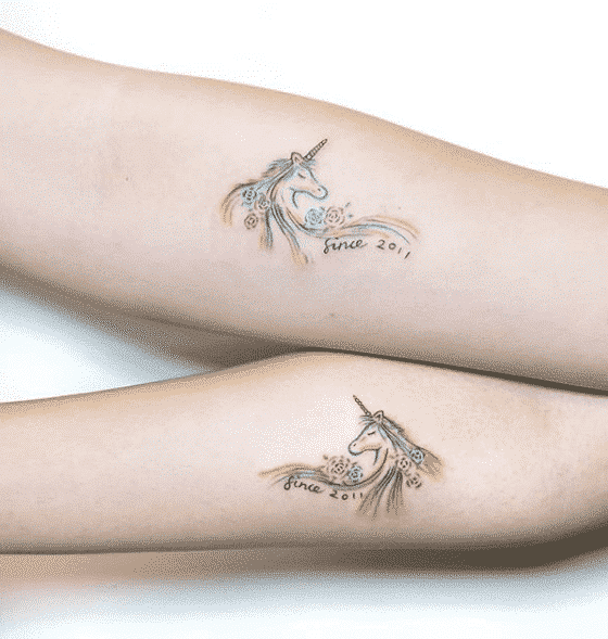 Symbolic Unicorn Tattoo