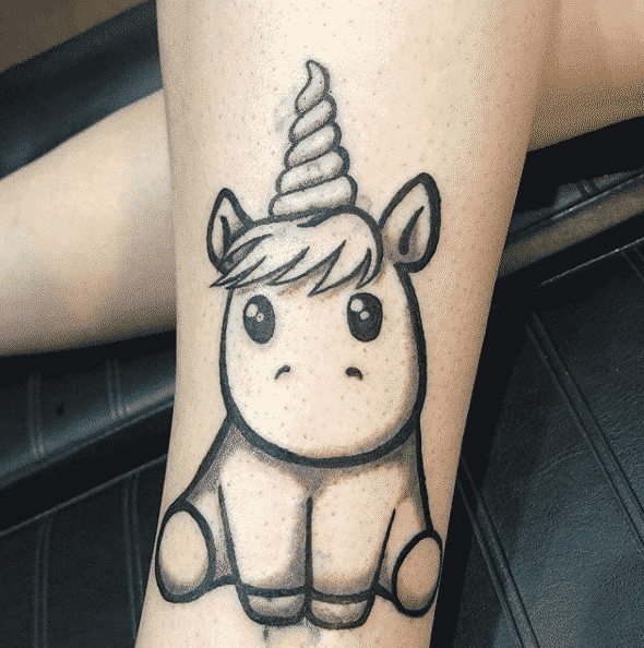 Unicorn Chibi Tattoo