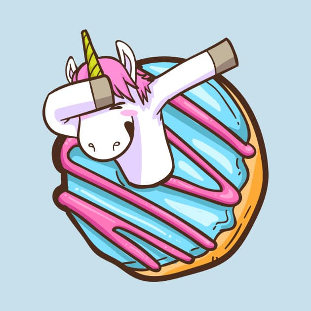 Unicorn Dabbing In A Donut