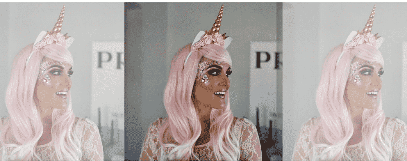 Unicorn Make Up Pink Hair