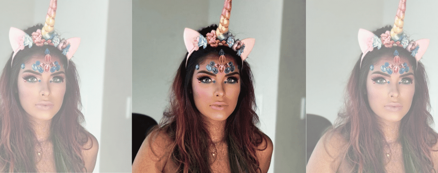 Unicorn Make Up With Ears
