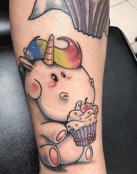 Unicorn Tattoo With Color