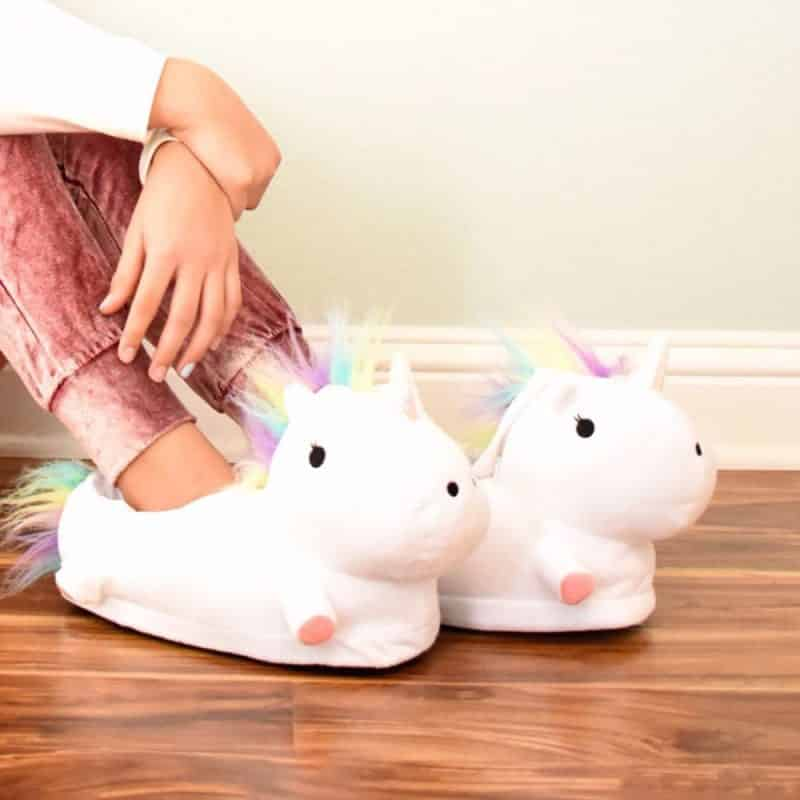 White Unicorn Slipper For Women