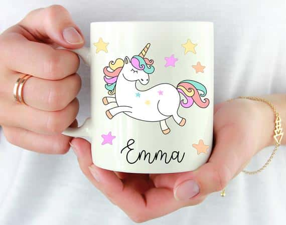Women And Unicorn Cup Of Coffee