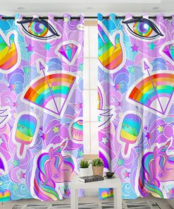Unicorn Curtains Planet Walm