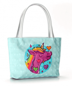 Unicorn Tote Bag C Star Print