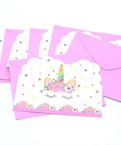 Unicorn Birthday Invitation 1st