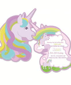 Unicorn Birthday Invitation Personalized