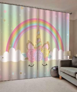 Unicorn Curtains Rainbow