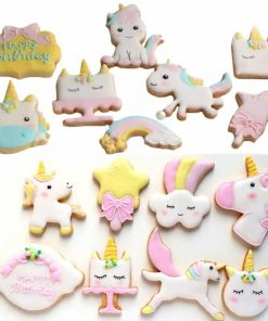 Unicorn Cookie Cutter Cake