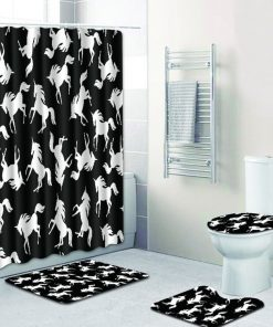 Unicorn Bathroom Set Black