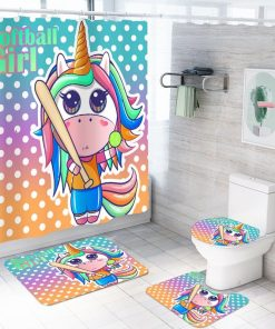 Unicorn Bathroom Set Rainbow