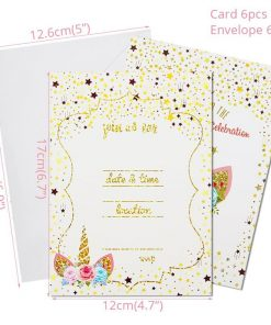 Unicorn Birthday Invitation Planet Walm