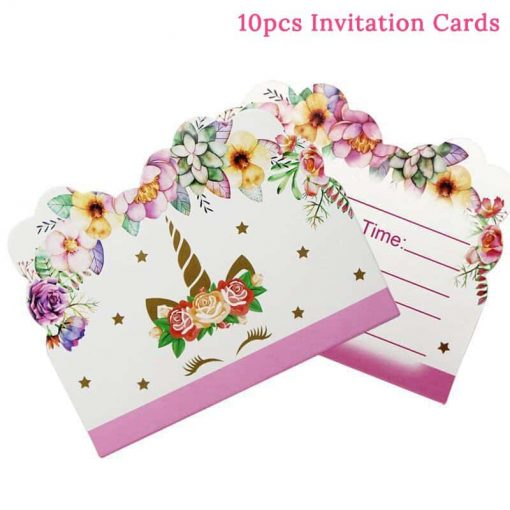 Unicorn Birthday Invitation Tsy