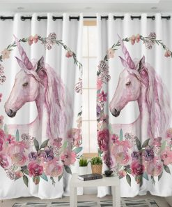 Unicorn Curtains With Pink