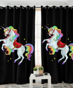 Unicorn Curtains Fabric