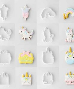 Unicorn Cookie Cutter Round And Square