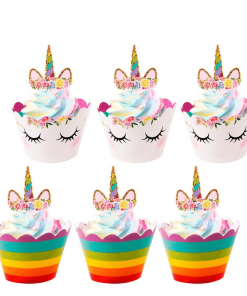 Unicorn Party Decoration Cupcake