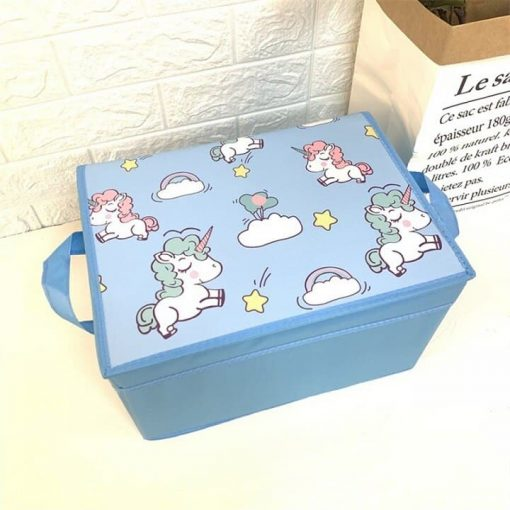 Unicorn Storage Bin Blue