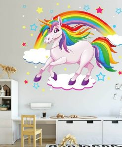 Unicorn Stickers Rainbow Wall